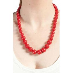 Collier flamenca rouge