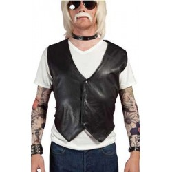 Gilet punk simili
