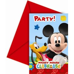 Invitations Mickey x6