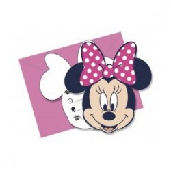 Invitations Minnie x6