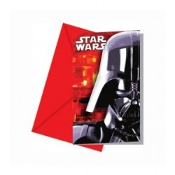 Invitations Star Wars x6