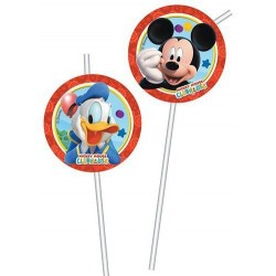 Pailles médaillons Mickey x6