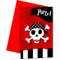 Invitations Pirate x6